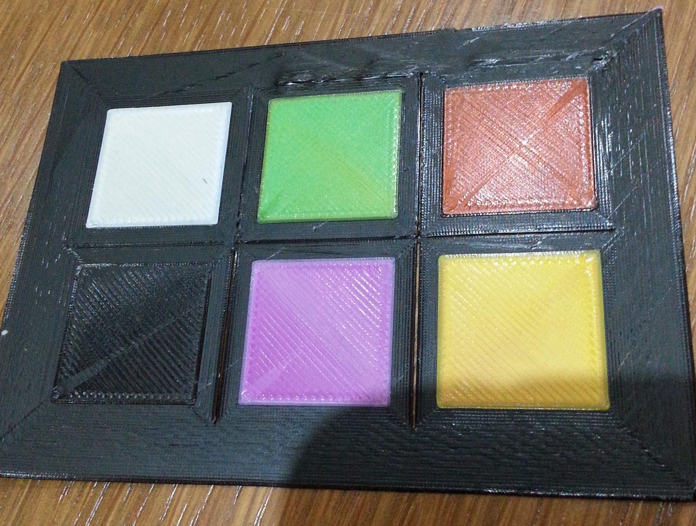 stampa 3d multicolore