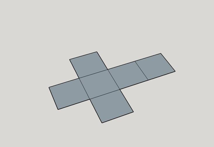 sviluppo cubo 2d